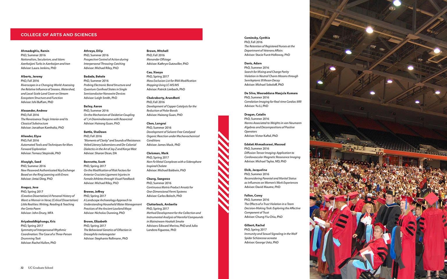 annual report, the graduate school, university of cincinnati